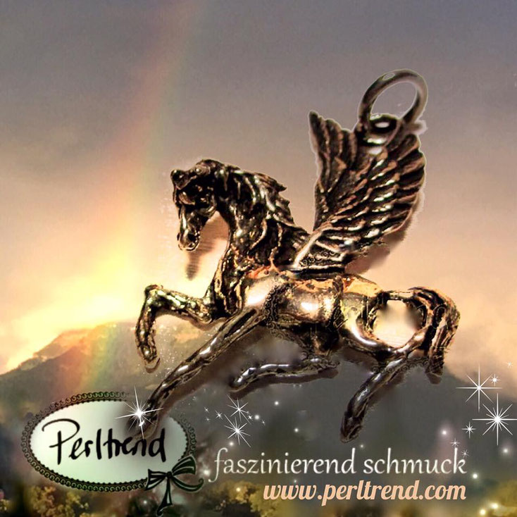 www.perltrend.com Anhänger Pendant Silber Silver 925 Pegasus