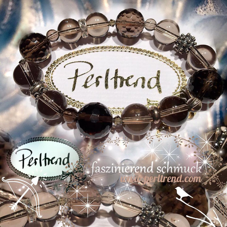 Perltrend Luzern Schweiz Onlineshop www.perltrend.com Schmuck Armschmuck Bracelet Armkette Armband Smoky Forest Highlight Rauchquarz smoky quartz