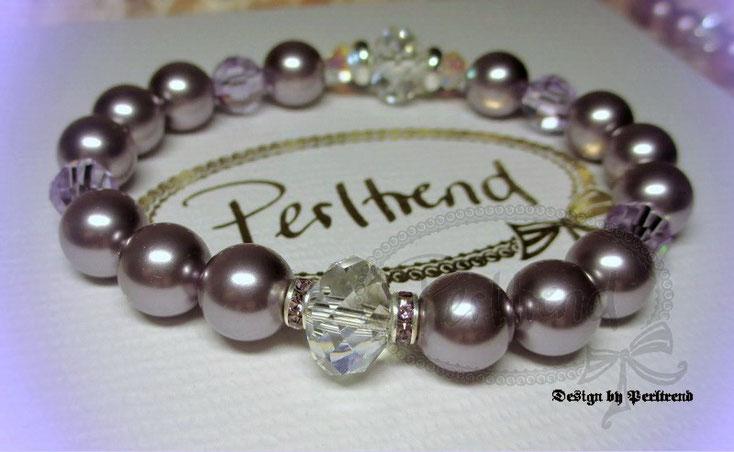 www.perltrend.com Armschmuck Pearls Hellviolett Lila Amethyst Flieder Armschmuck Armband Armkette Bracelet Schmuck Jewellery Perltrend Luzern Schweiz Onlineshop