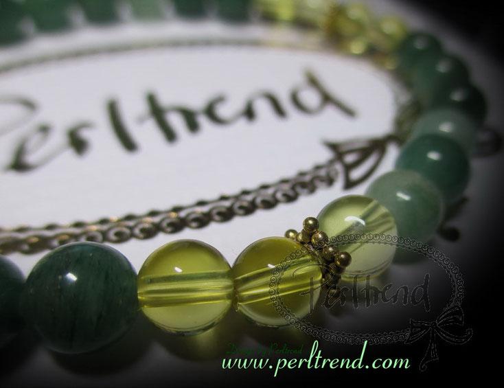 www.perltrend.com Armschmuck grün Edelsteine Citrine Aventurin Avencitrinaelle Bracelet Armband Schmuck Jewellery Jewelry Gemstones Perltrend Luzern Schweiz Onlineshop