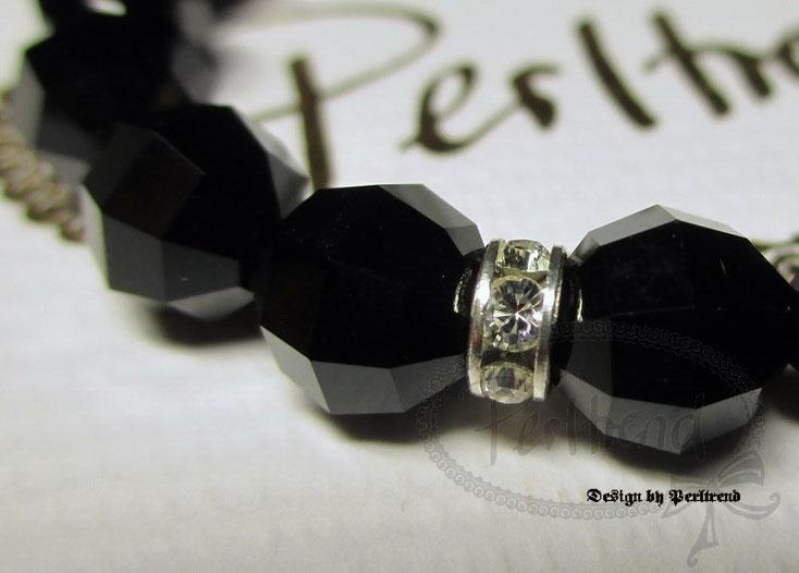 www.perltrend.com Armschmuck Bracelet schwarz black Crystal crystals Swarovski Perltrend Luzern Schweiz Onlineshop Schmuck Jewelry Jewellery