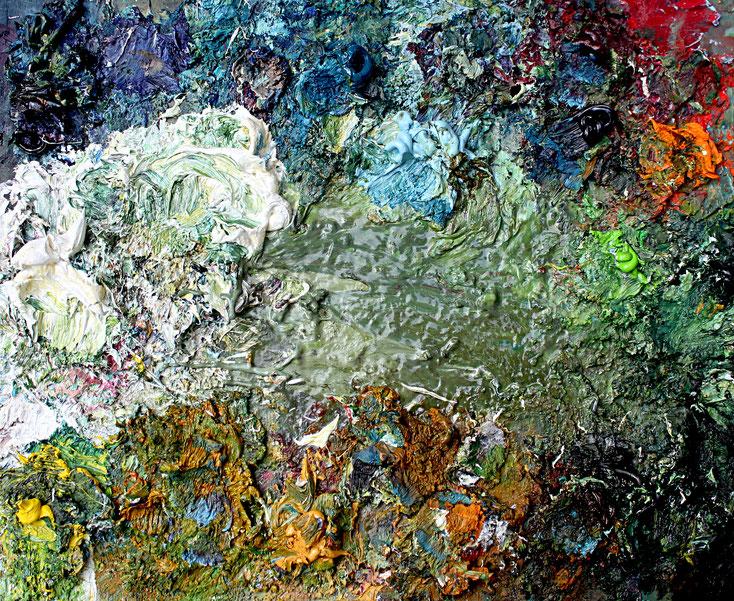 Farbpalette des Künstlers