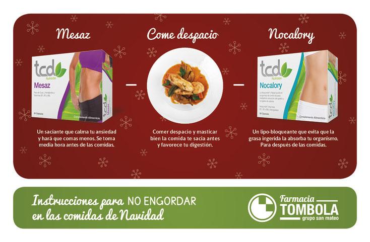 3 sencillos pasos para no engordar en Navidad - Farmacia Tómbola Alicante