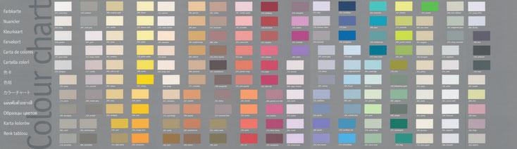 Farbübersicht Volvox Espressivo Lehmfarbe