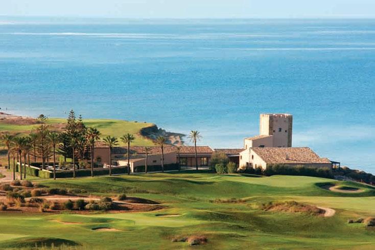 Golfurlaub Ferien Italien Sizilien Golfpakete , Meerblick, Sizilien, Turm, Golfplatz Italien