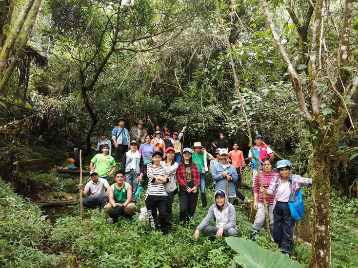 Volunteers from the Collage of Forestry, Benguet State University