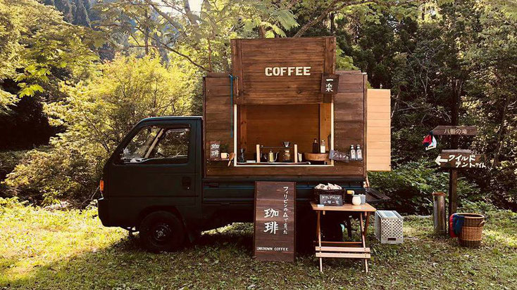 Exported Cordillera coffee beans are roasted and served in  the Unknown Coffee truck.
