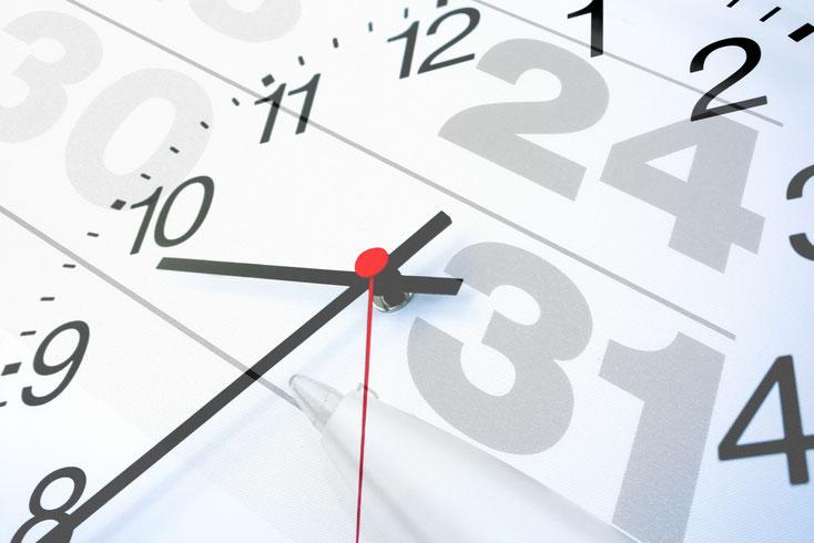 Uhr + Kalender; Detektei Darmstadt, Detektiv Hanau, Privatdetektiv Gießen, Detektei Marburg
