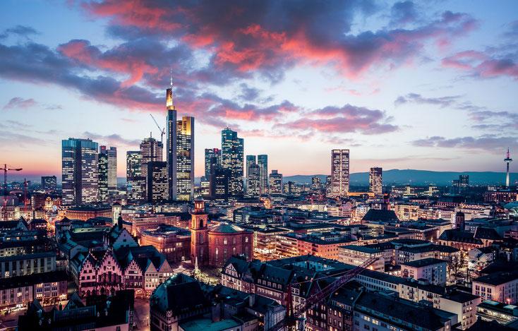 Luftansicht Frankfurt am Main; Detektivagentur Frankfurt, Detektivbüro Frankfurt