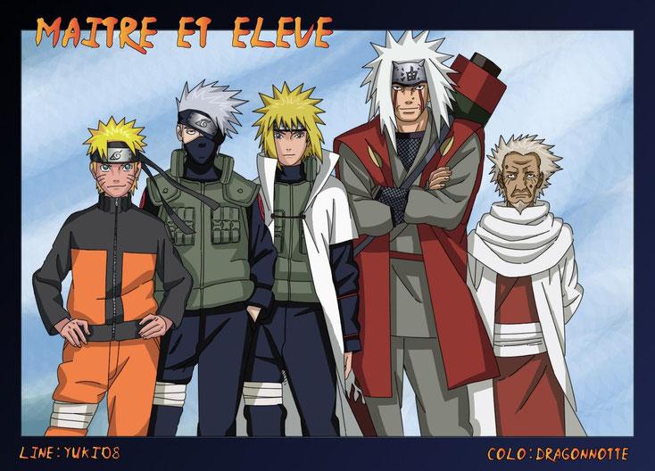 Nous retrouvons ce principe dans Naruto par exemple. Source: http://www.wonaruto.com/fanarts/view/44501/
