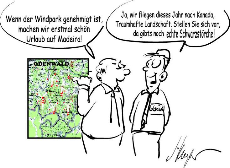 Windpark Odenwald, Schwarzstorch