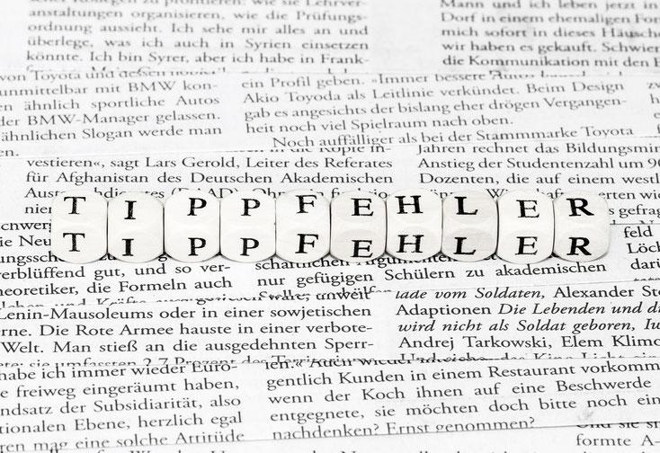 Tippfehler; Lektorat Leipzig, Lektor Leipzig, Korrektorat Leipzig, Lektor Sachsen
