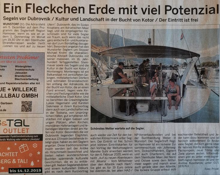 Wunstorfer Stadtanzeiger, 30.11.2019