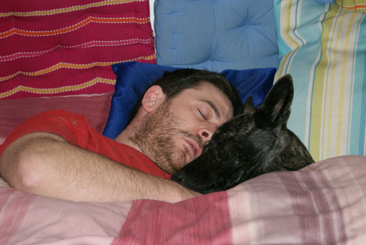 Andreas & Fiby im Tiefschlaf!!! Ein süsses Foto:o))