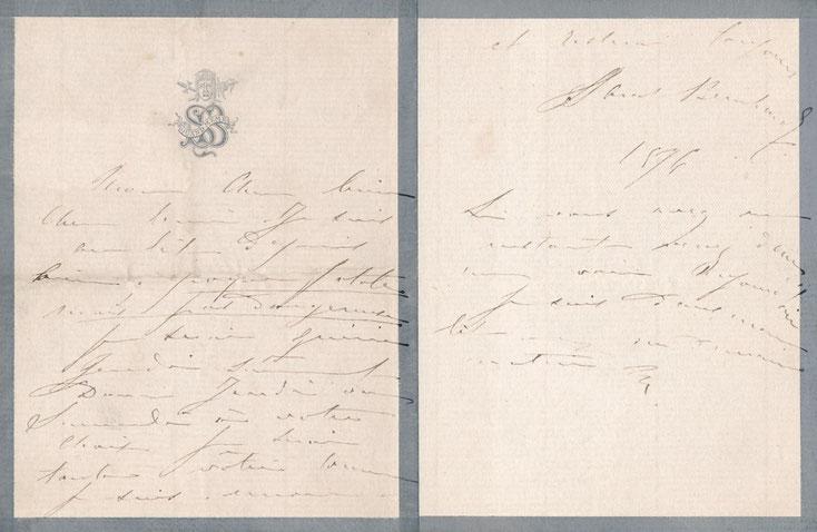 Sarah BERNHARDT Gustave Doré lettre autographe signée théâtre peinture