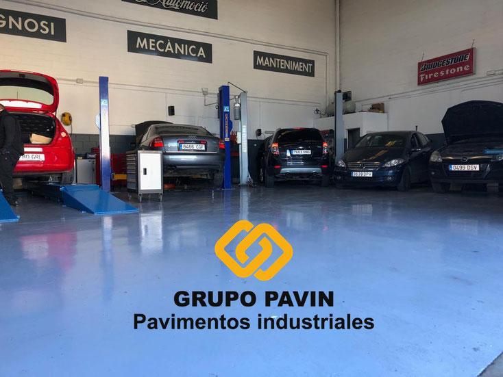 GRUPO PAVIN - Pavimentos industriales | Pavimentos industriales para talleres de coches - Espectacular acabado