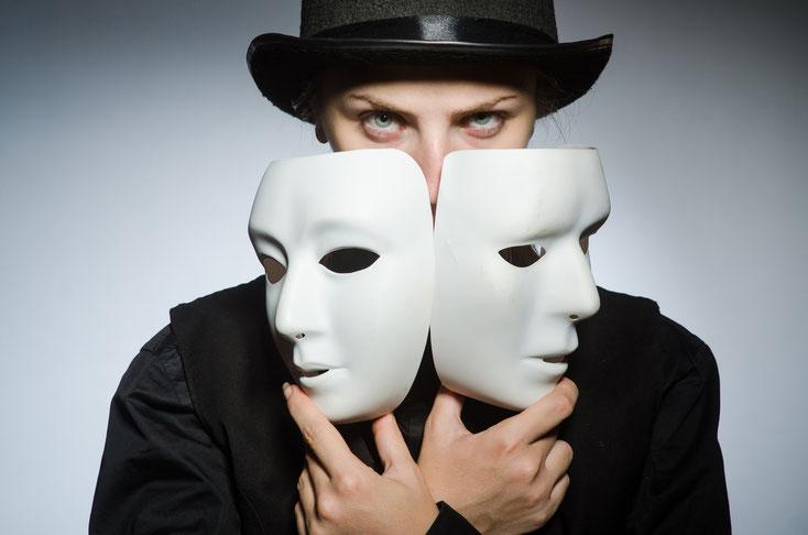 Frau mit Masken; Detektei Haltern am See, Detektiv Haltern, Privatdetektiv Haltern am See