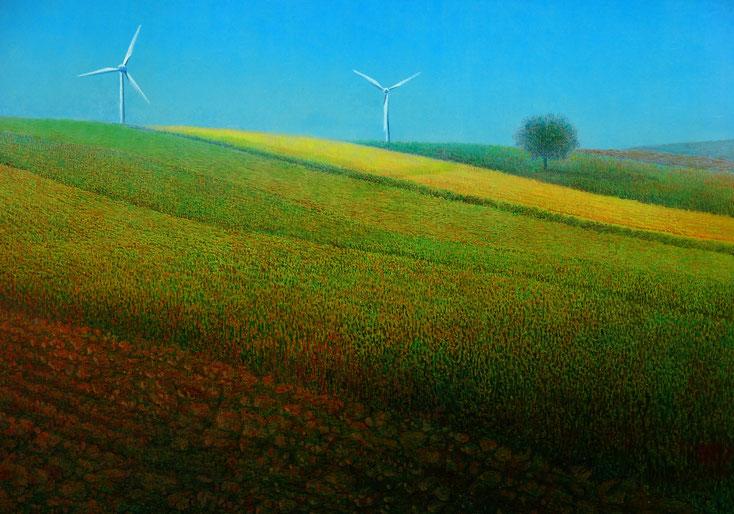 Hanno Karlhuber - Windstille Acryl/Öl auf Holz, 70 x 100cm, 2003