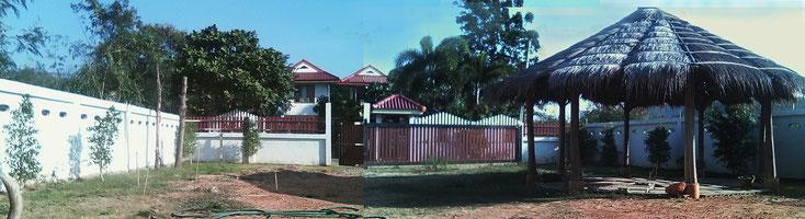 Das Grundstück gegenüber meines Hauses (im Hintergrund)