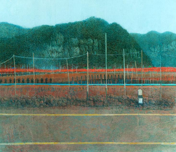 Hanno Karlhuber - Die Shrimpsfarm, Acryl/Öl auf Hartfaser, 70 x 80 cm, 2012