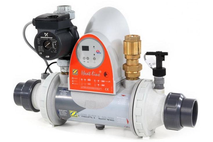 Wärmetauscher Heat Line 40 mit Ausstattung und Pumpe Zodiac