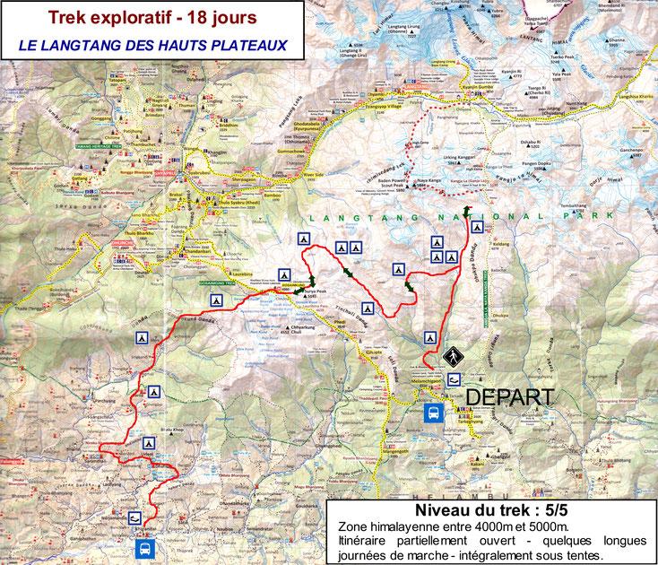 trekking langtang highlands - trek hauts plateaux langtang - gosaikunda danda