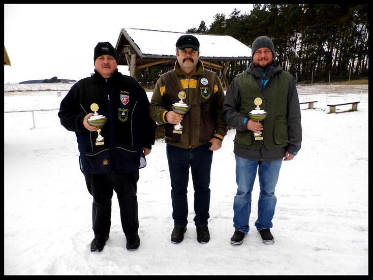 Gewinner des Neujahrsschießen 2017 Andreas Pietz, Frank Hügelow und Pierre Podein.