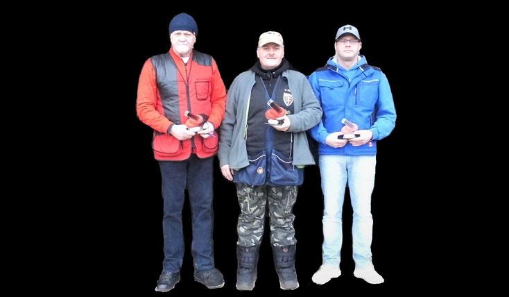 Gewinner des Neujahrsschießen 2020 Werner Fröhlich, Andreas Pietz und Tino Fröhlich.