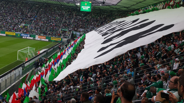 sk rapid wien ultras allianz stadion west stadion block fans choreo