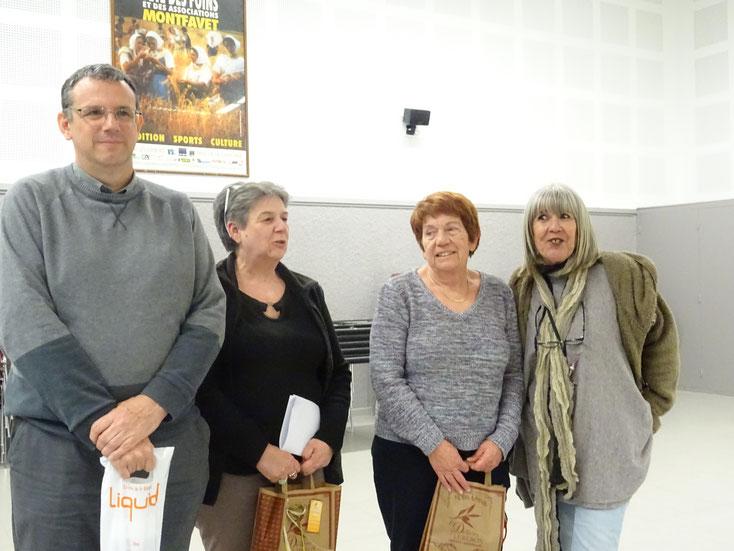 De gauche à droite : Bruno, Christiane, Hélène et Véronique.