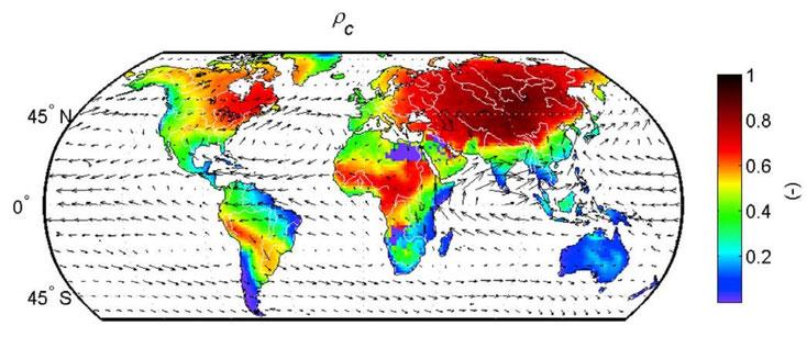 Les massifs forestiers jouent un rôle sur le taux de recyclage de l'eau sur les continents.