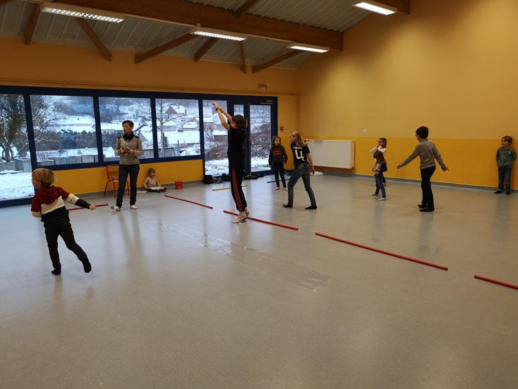 Jeux sportifs au Gymnase d'Escherange le jeudi après-midi