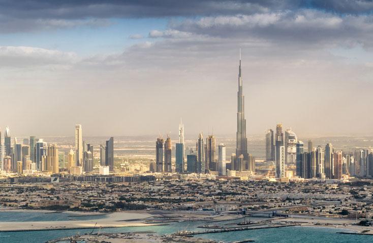 Skyline Dubai; Detektei Dubai, Detektiv Dubai, Privatdetektiv Dubai, Wirtschaftsdetektei Dubai