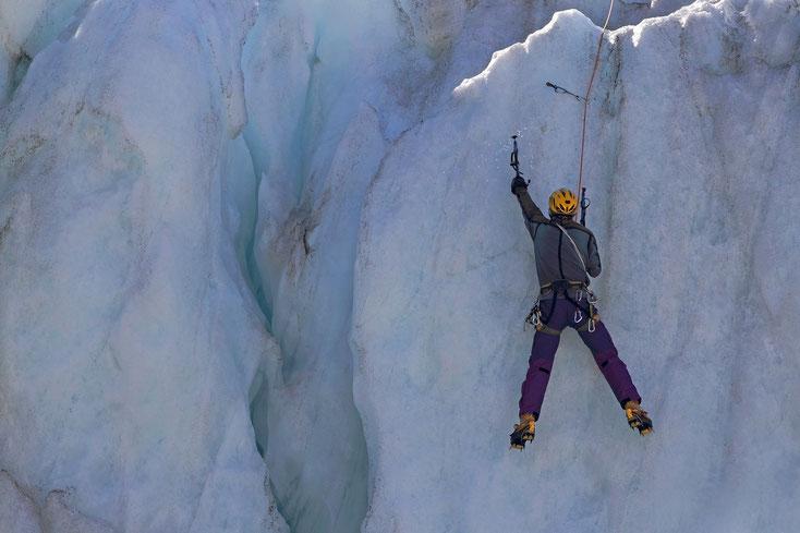 Training im Gletscherbruch
