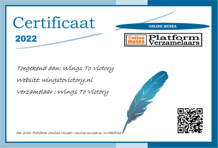 Certificaat Wings to Victory