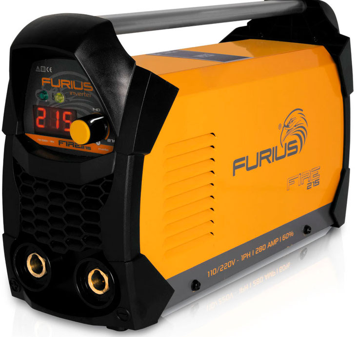 Soldadora Inversor Furius Fire 215