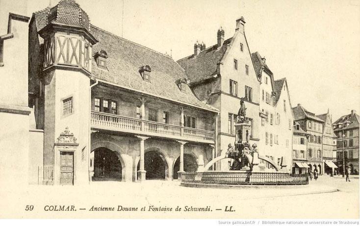 Colmar - La fontaine Schwendi, Statue de Frédéric Auguste Bartholdi (1898)