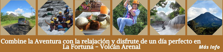 Arenal Combo aventura desde San Jose: Rafting, Canopy, Aguas Termales
