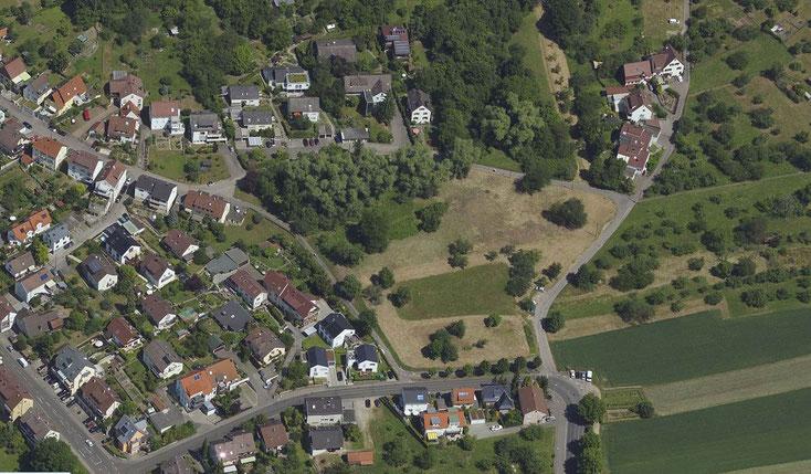 Blick auf das geplante Baugebiet Greut. Die Geister scheiden sich an diesem Bauvorhaben. (Bildquelle: Stadt Esslingen)