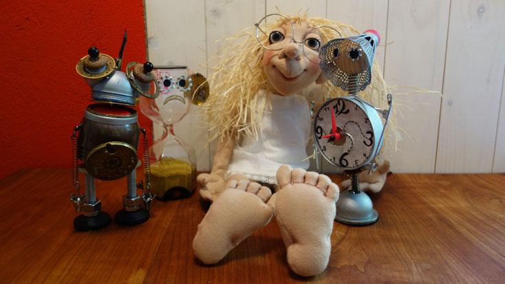 """Tischfiguren aus dem Stück """"Die Zeitdiebe"""" für Nicole Gospodarek"""