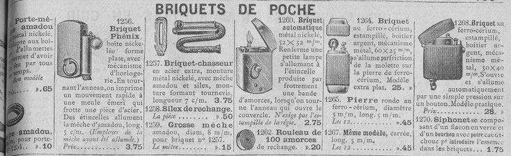 Catalogue de 1914 de la Manufacture d'Armes et Cycles de Saint-Etienne