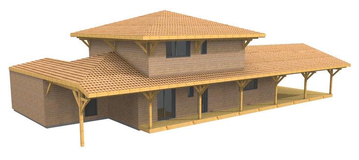 maison ossature bois bordeaux 33000
