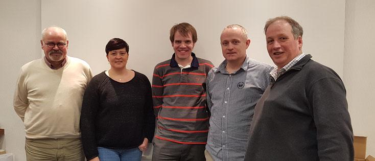 von links: Klaus Schellpeper, Manuela Hambach, Fabian Geisel (Beisitzer/Schriftführer), Torsten Rohmann, Matthias Pack