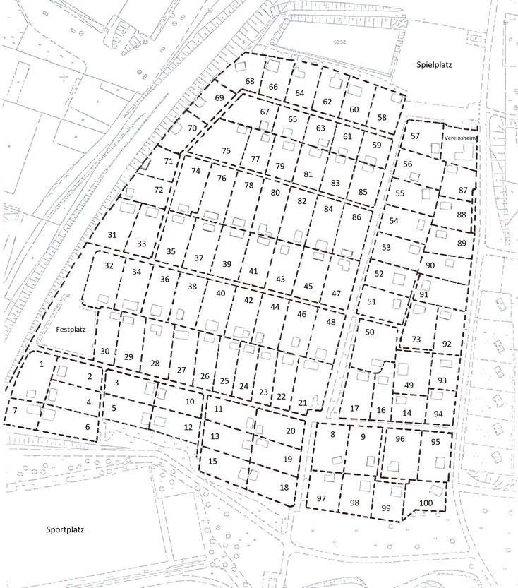 Plan der Gartenanlage