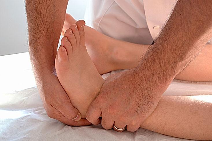 Manipulation Ostéopathique pour une entorse de la cheville
