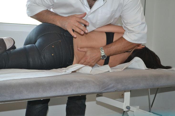 Ostéopathie du rachis lombaire et charnière lombo-sacrée