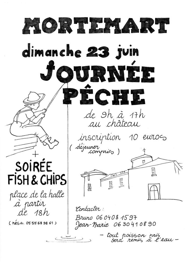 journée pêche, 23 juin, soirée fish and chips