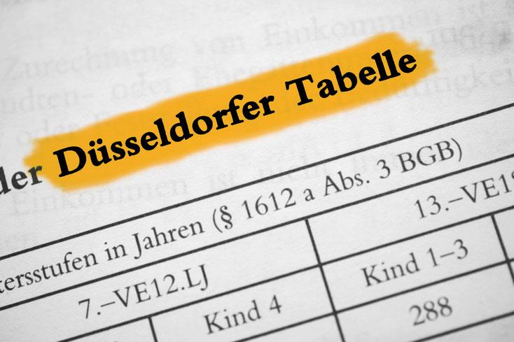 Seit 1962 dient die Düsseldorfer Tabelle deutschlandweit als Maßstab zur Berechnung des (Kindes-)Unterhalts.