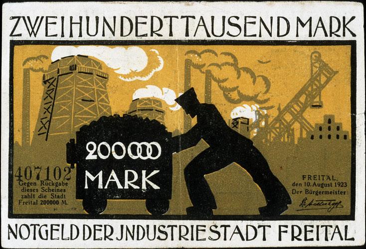 Freital-Briefmarke 1923; Detektei Freital, Detektiv Freital, Privatdetektiv Freital, Wirtschaftsdetektei