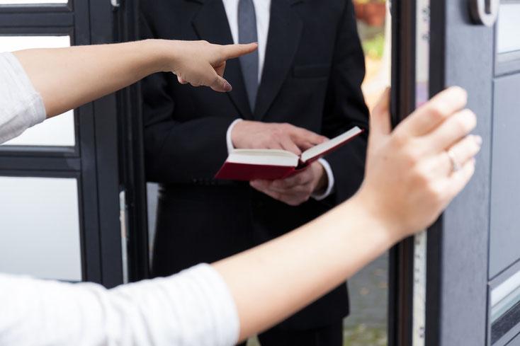 Zeuge Jehovas beim Predigtdienst; Observation Wuppertal, Detektive Wuppertal